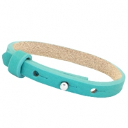 Cuoio armbanden leer 8 mm voor 12 mm cabochon Flash turquoise green