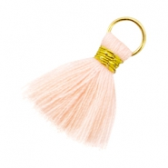 Kwastjes Ibiza style 2cm Goud-Light peach orange