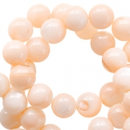 Schelp kralen basic rond 4mm Peach orange