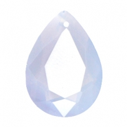 Druppelvorm hangers SQ facet 13x18mm Air blue opal
