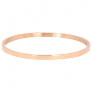 Stainless steel armband large Rosegold