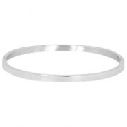 Stainless steel armband large Zilver