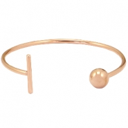 Stainless steel armband bar&ball Rosegold