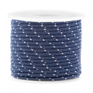 Trendy koord surfkoord rond 2mm Dark blue-silver