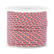 Trendy koord surfkoord rond 2mm Red white blue