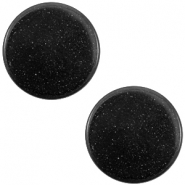 12 mm platte cabochon Super Polaris Nero zwart