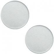 12 mm platte cabochon Super Polaris Ice grey