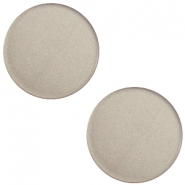 12 mm platte cabochon Super Polaris Dusty grey