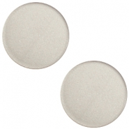 20 mm platte cabochon Super Polaris Silver shade