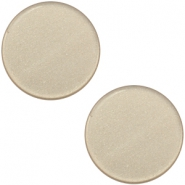 12 mm platte cabochon Super Polaris Light taupe