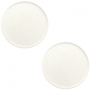 12 mm platte cabochon Super Polaris Antique white