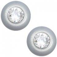 12 mm classic cabochon Super Polaris SS29 Swarovski Ice grey