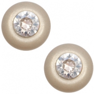 12 mm classic cabochon Super Polaris SS29 Swarovski Light taupe