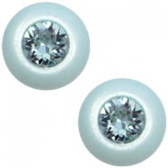 12 mm classic cabochon Super Polaris SS29 Swarovski Haze blue