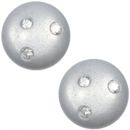 12 mm classic cabochon Super Polaris 3 Swarovski steentjes Ice grey