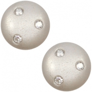12 mm classic cabochon Super Polaris 3 Swarovski steentjes Silver shade