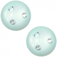 12 mm classic cabochon Super Polaris 3 Swarovski steentjes Light aqua green