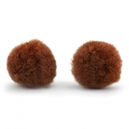 Pompom bedel 15mm Brown