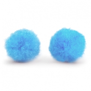 Pompom bedel 15mm Light blue