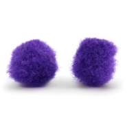 Pompom bedel 15mm Purple