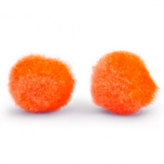 Pompom bedel 10mm Spicy orange