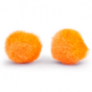 Pompom bedel 15mm Tangerine orange