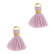 Mini kwastjes Ibiza style Goud-Antique violet