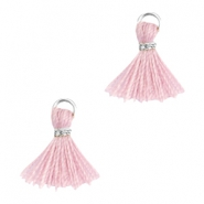 Mini kwastjes Ibiza style Zilver-Antique pink
