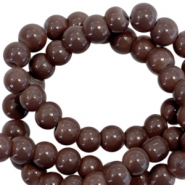 3 mm glaskralen opaque Dark chocolate brown