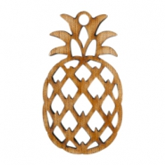 Houten hangers ananas Dark brown