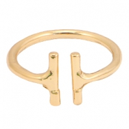 Musthave ringen double bar Goud