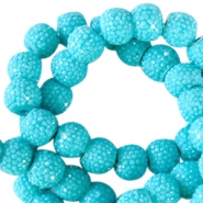 Sparkling beads 8mm Lagoon blue