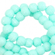 Sparkling beads 8mm Bright turquoise green