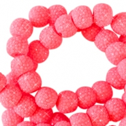 Sparkling beads 6mm Fiery coral pink