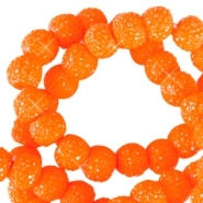 Sparkling beads 6mm Bright orange