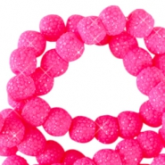 Sparkling beads 8mm Flourish fuchsia