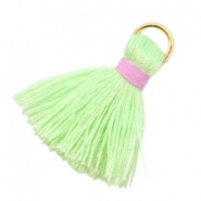 Kwastjes Ibiza style 2cm Flash green-pink