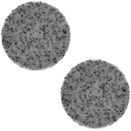 20 mm platte cabochon Polaris Elements Lava Midnight grey