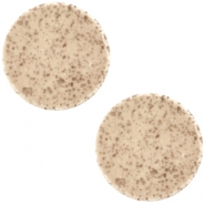 20 mm platte cabochon Polaris Elements Lava Dark camel brown