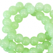 6 mm glaskralen opal Spring green