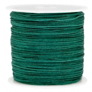 Macramé draad 0.8mm Dark emerald green
