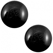 20 mm classic cabochon Super Polaris Nero zwart