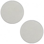 7 mm platte cabochon Polaris Elements matt Ice grey