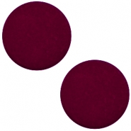 12 mm platte cabochon Polaris Elements matt Royale aubergine