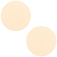 12 mm platte cabochon Polaris Elements matt Silk beige