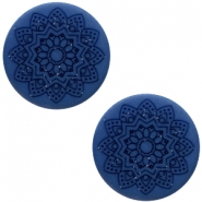 12 mm platte cabochon Polaris Elements Mandala print matt Radiant blue