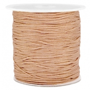 Macramé draad 1.0mm Light brown