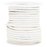 DQ Leer rond 3 mm White