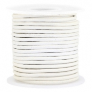 DQ Leer rond 2 mm White