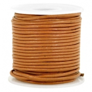 DQ Leer rond 1 mm Copper brown